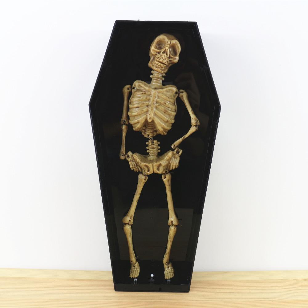 Scary Halloween Decor Horror Coffin Skeleton Ghost Prank Toys Novelty Funny Gifts Shocker Electric Scary Halloween Decor(China (Mainland))