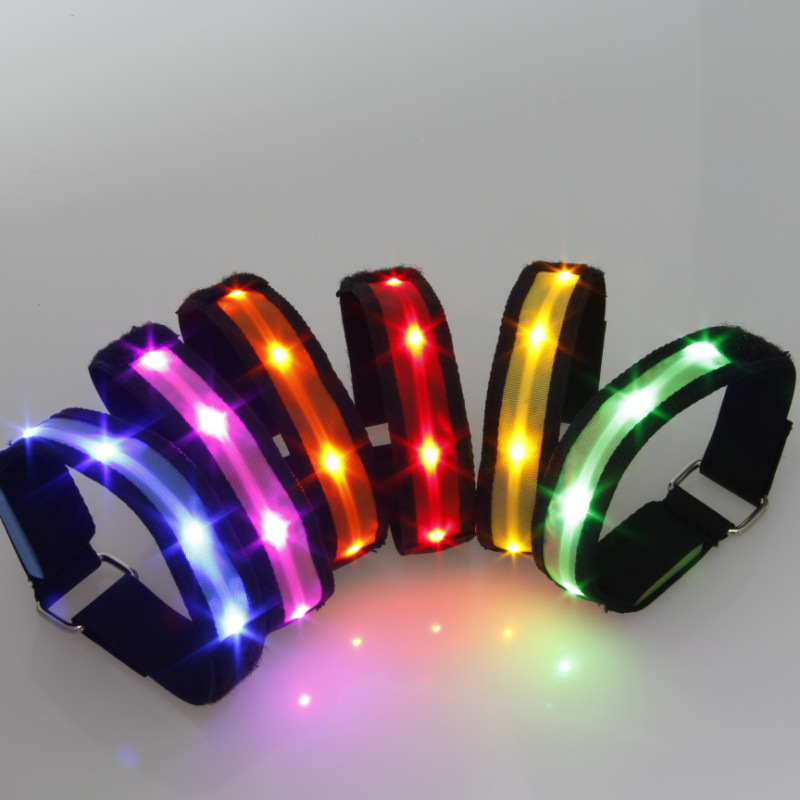 Vogue Colorful Sports Bike Glowing Armband Belt Strap Safety Reflective LED Arm Band New 1Pcs Free Shipping(China (Mainland))