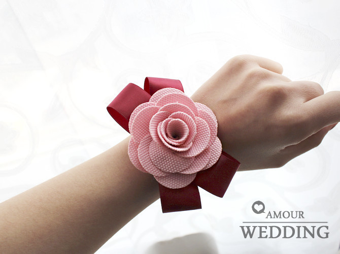 Wedding bridesmaid sisters hand flowers handmade corsage flower bridal wrist wedding supplies 1 - Ocean of Jewelry( Flowers,Handbands,Gifts etc store)
