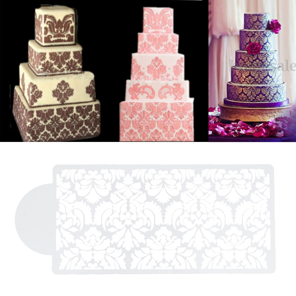 Online get cheap cake decorating templates free for Lace templates for cakes