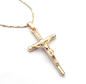 free shipping,sword gold cross necklace for women,cross pendant necklace(China (Mainland))