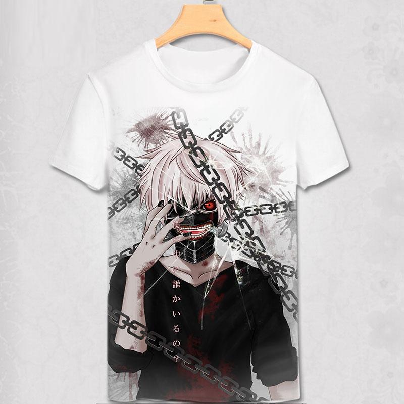 Tokyo Ghoul digital printed hot anime Tokyo Ghoul t shirt clothes Ken Kaneki short-sleeve Tokyo Ghoul Ninja T-shirt men tshirt