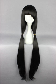 [Date a Live] Tokisaki Kurumi 100cm Long Black With Bangs Straight Cosplay Wig