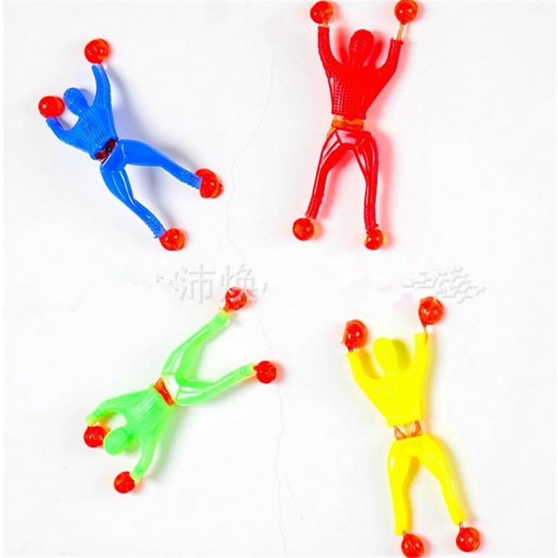 200pcs/lot 9cm*3cm Silica gel robot Climbing Spider-Man /sticky Spiderman / Superman Climbing villain / climbing on glass<br><br>Aliexpress