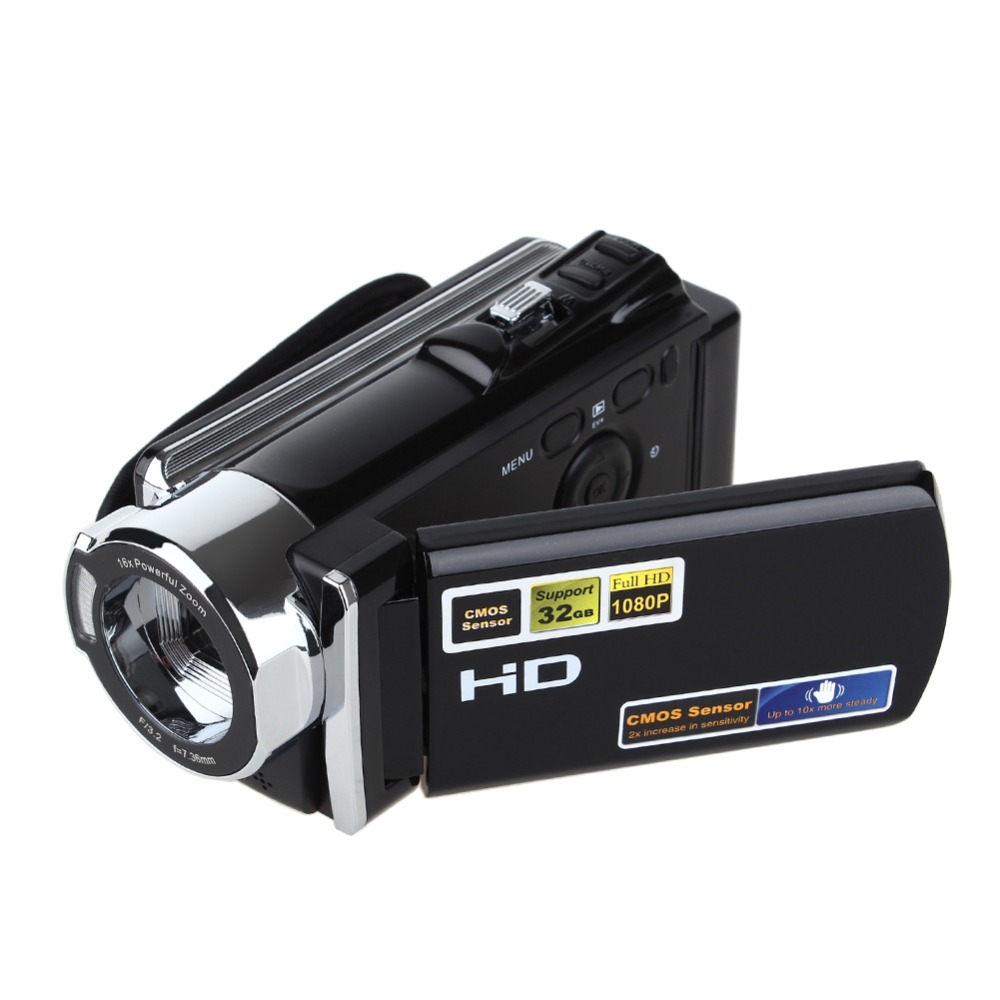 Full HD 1080P Video Camcorder with 3'' TFT LCD 16X ZOOM HDV-604S 20MP Digital Video Camera DV DVR Mini Camcorder(China (Mainland))