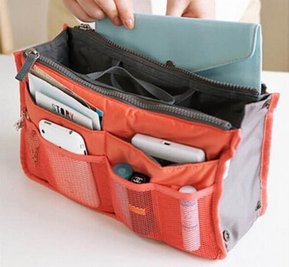 7 Colors organizer bag Women Men Casual travel bag multi functional storage bag in bag Handbag
