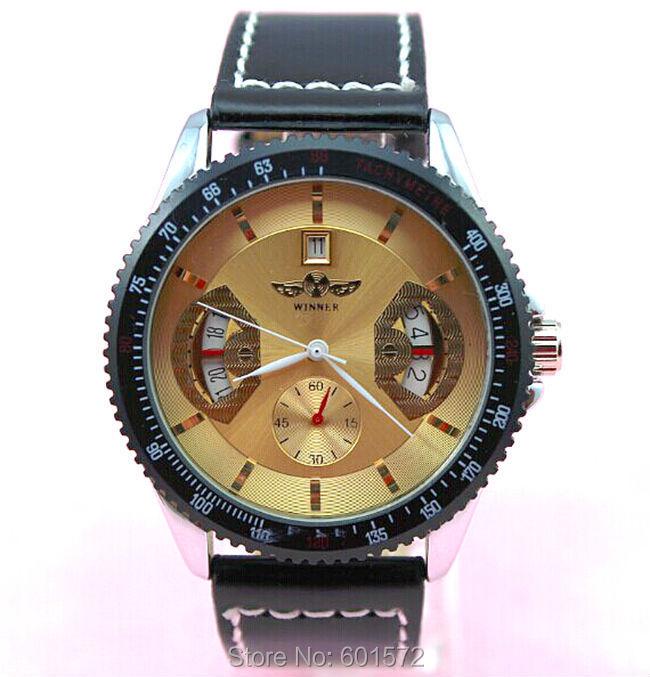 35pcs/lot New arrival fashion design high quality winner Automatic mechanical fashion watch(China (Mainland))