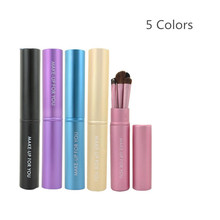Professional Pony Hair Eyeshadow Brushes Makeup eye Brushes Sets Kits 5 pcs Make up Brushes Make-up Tools Kit + Round Tube