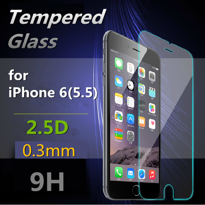 for iPhone 6 s Plus 5 5 Ultra Thin Transparency HD Tempered Glass Film font b