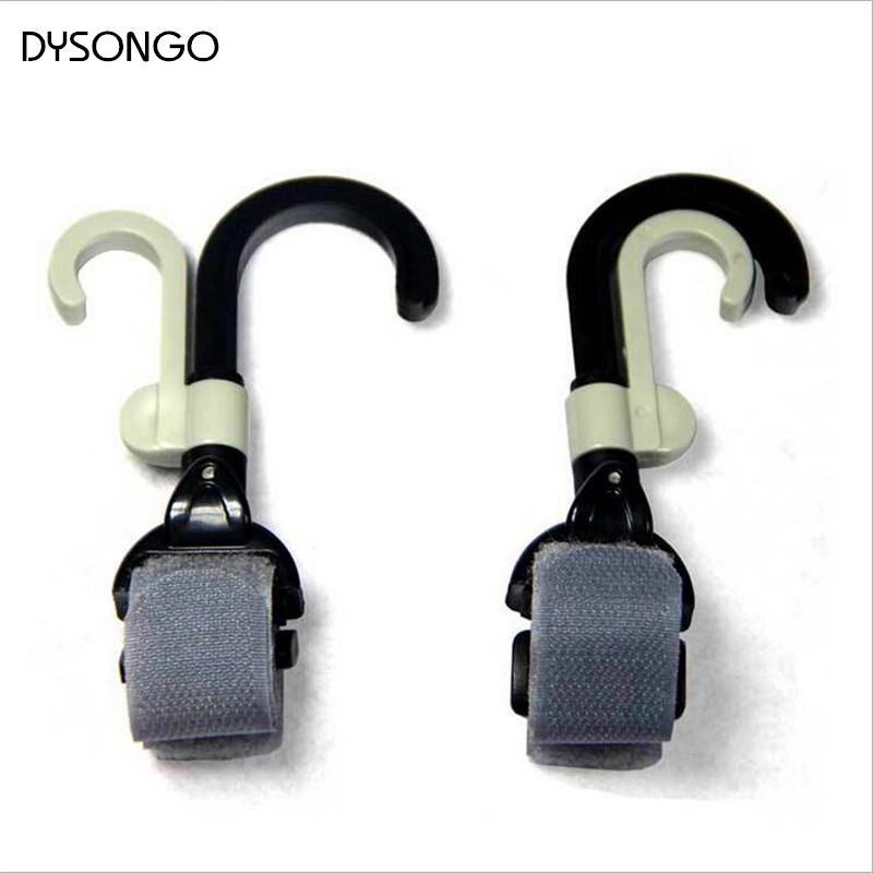DYSONGO Stroller Hook Hanger Pothook Baby Stroller Pram Double Rotate Hook Pushchair Hanger Stainless Steel Shaft 2PCS/Lot(China (Mainland))