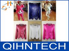 Han edition dress autumn winter cotton padded clothes shoulder pads set auger eye candy color cotton