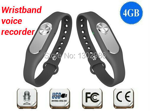 FreeShipping New Colorful Wearable Wristband 4GB Digital Voice Recorder Watch Long Time Recording usb flash drive WR06(China (Mainland))