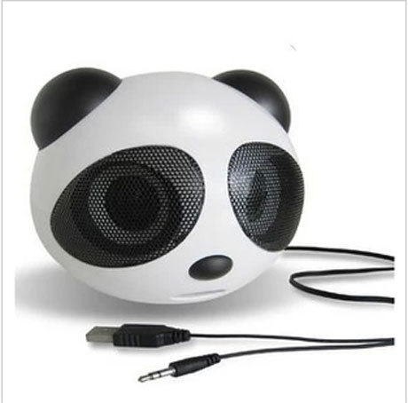 3pcs free ship big Panda Speakers Portable Mini Speakers Support SD Card+USB+FM+Remote Controller hot(China (Mainland))