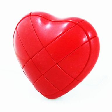 New Design Heart Shaped Magic IQ Cube Puzzle (Red)(China (Mainland))