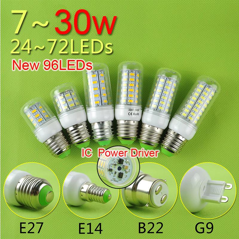 Гаджет  CE&Rohs E27 E14 B22 G9 LED Corn Bulb LED Light 21W 5W 7W 9W 12W 15W 18W 220v LED Lamp Cold Warm White SMD 5730 Free Shipping None Свет и освещение