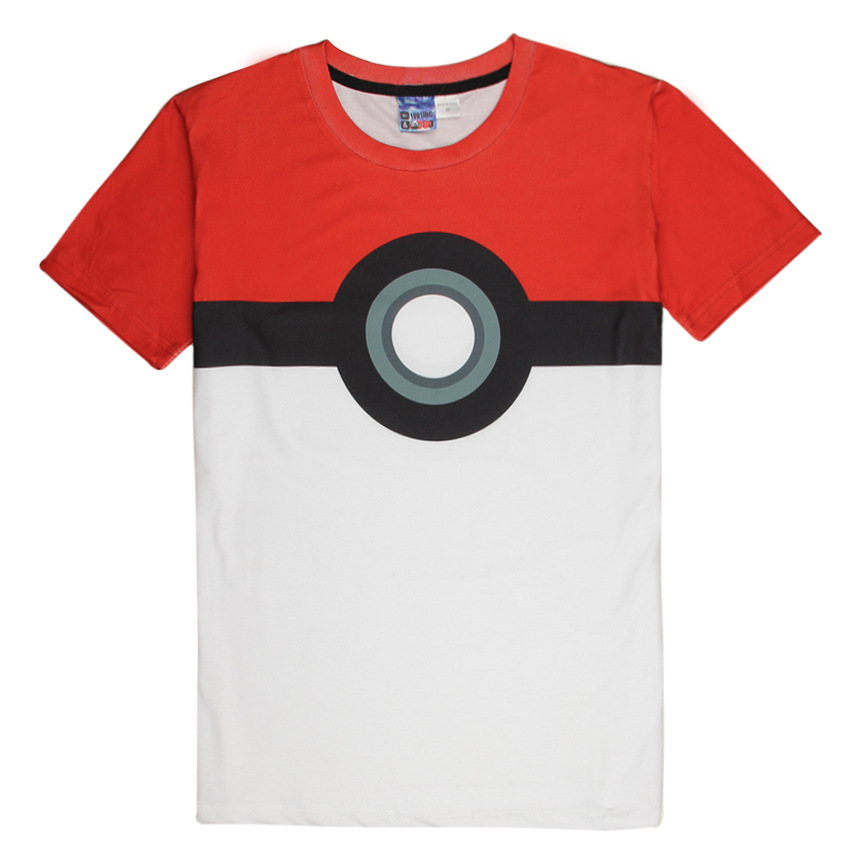 Hot Pokeball Fashion T Shirt font b Pokemon b font font b T shirts b font