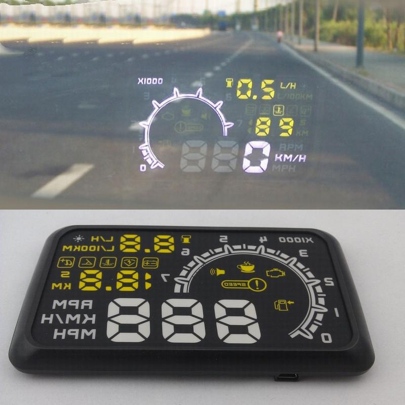 5.5'' new HUD head-up display car monitor LED screen computer monitor alarm and security system(China (Mainland))
