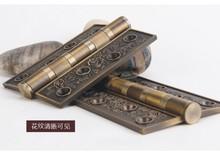 American Antique French I European antique copper carved bronze bearing thickened thickened cyanine hinge / sheet(China (Mainland))