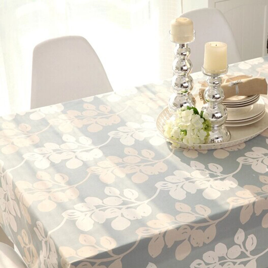 2015 new arrivel pastoral style plant design home linen tablecloths covers flags of table for sale(China (Mainland))