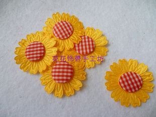 EMS shipping Christmas DIY crafts,DIY clothing accessories,decorative flower,4 cm fabric flower,nonwoven flowers,scrapbooking