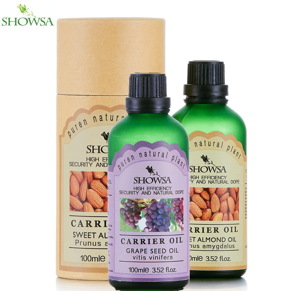 SHOWSA Moisturizing and Delay Ageing SET Skin Care Tender Humectants Sweet Almond base oil & Grape Seed base oil massage oil