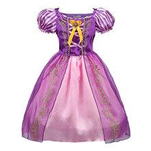 Buy Summer Baby Girls Cinderella Dresses Children Snow White Princess Dresses Rapunzel Aurora Kids Party Halloween Costume Clothes for $11.04 in AliExpress store