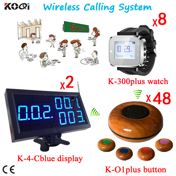 Waiter Paging System Wireless Table Call Bell Buttons Customer Calling To Waiters System 300M Remote(China (Mainland))