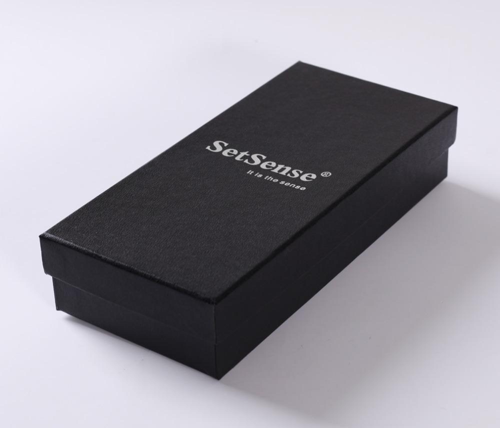 SetSense Professional Tie Box Silver Words Black Gift Boxes 20.5cmX10cmX4.5cm Boxs(China (Mainland))