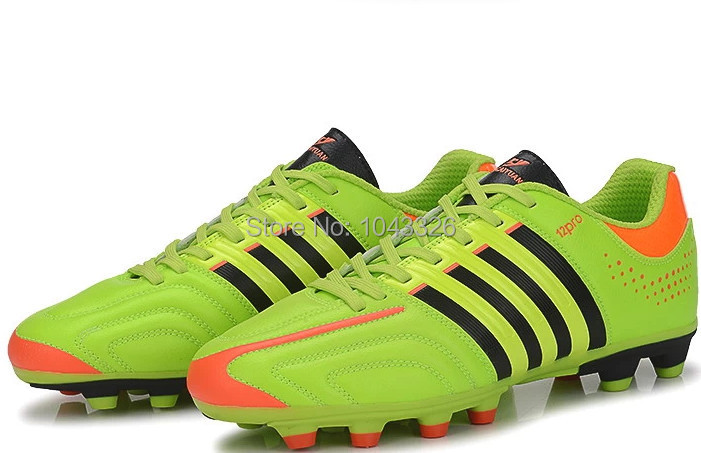 high quality men AG pu rubber soccer athletic football boots training sports shoes(China (Mainland))