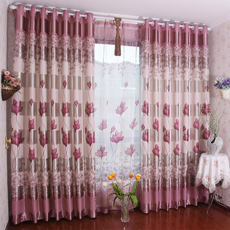 Curtains double faced dodechedron print curtain chinese for B q living room curtains