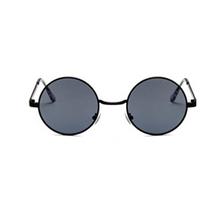 78f8d35e1dd63 GUVIVI Moda Novo 2018 Rodada Óculos De Sol Das Mulheres Do Metal Do Vintage  Frame Lente