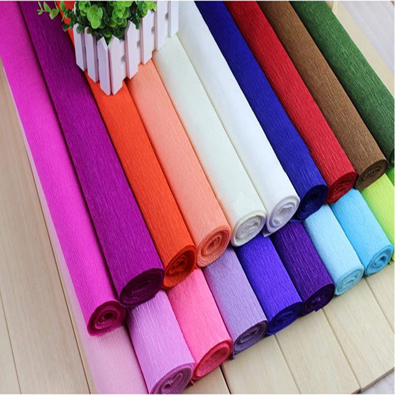 250*50CM Colored Crepe Paper Roll For Flowers Decoration Gift Wrapping Paper Craft 3Pcs/lot 5-004-2(China (Mainland))