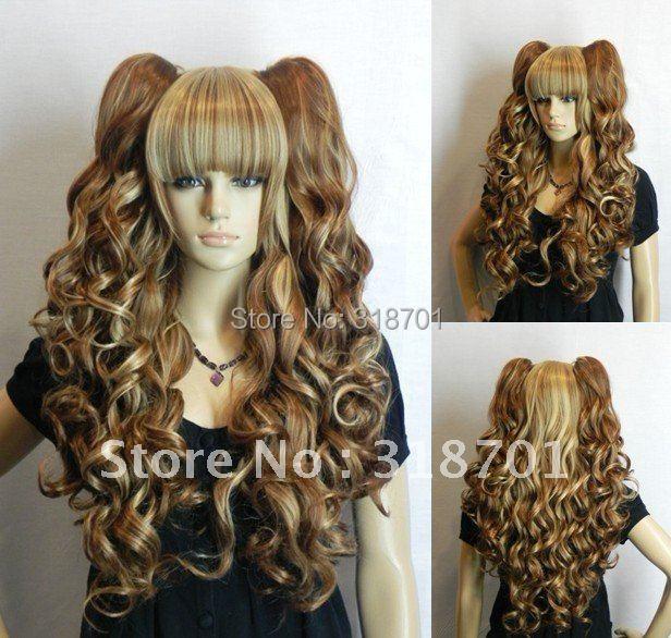 2Lolita Long wavy blend brown&blonde clip ponytail