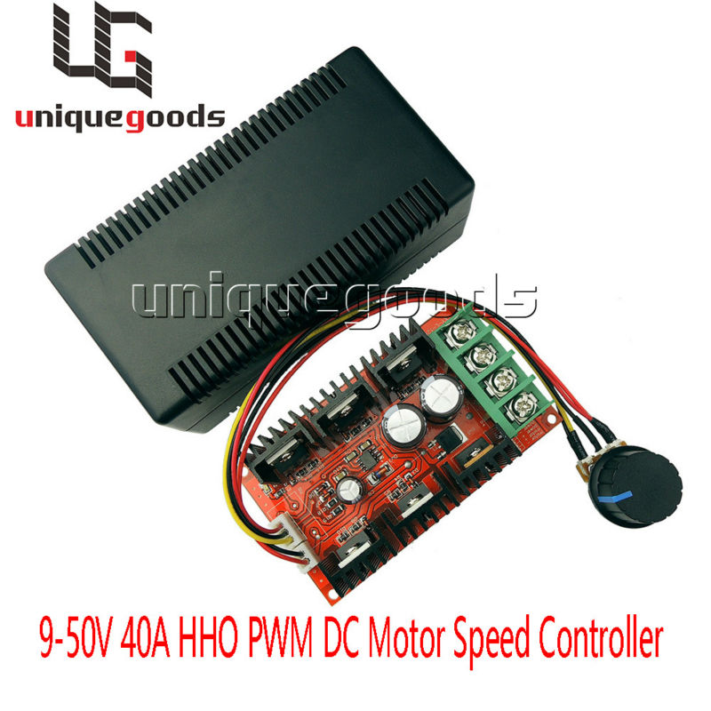 Ship From USA 12V 24V 48V 12000HZ 2000W MAX 10-50V 40A DC Motor Speed Control PWM HHO RC Controller(China (Mainland))