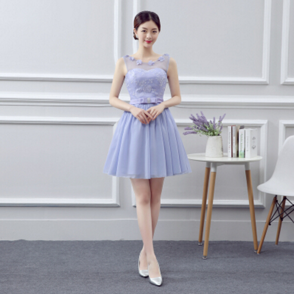 2016 knee-length short party dresses formal elegant fashion womens sexy lilac gowns dress women S3697 - I And You Story store