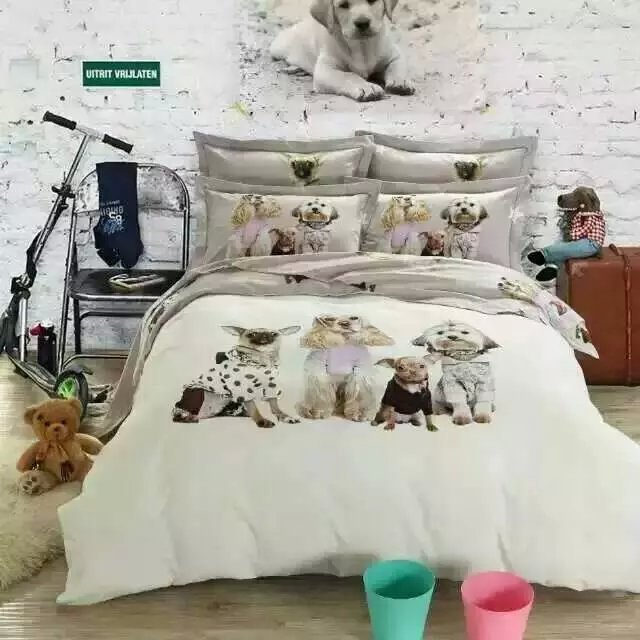 Queen Size Bedding With Dogs