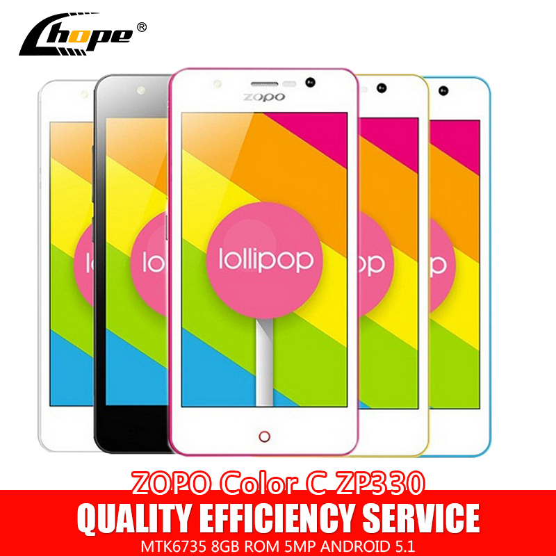 "Original ZOPO Color C ZP330 4.5"" MTK6735 64 bit Quad Core 4G LTE Mobile Phone Android 5.1 8GB ROM 5MP Camera OTG Dual SIM(China (Mainland))"