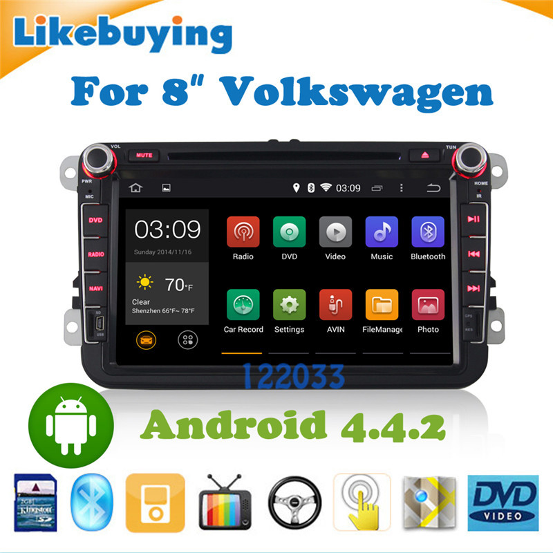 8 Inch 2 DIN Android 4.4.2 Car DVD GPS Volkswagen Passat B6 / B7 CC WiFi Canbus DVD/free 8G Card Map - Shenzhen Being Lucky Trading Co.,Ltd store