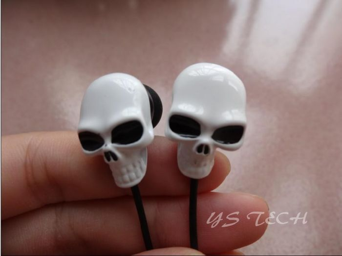 DHL 50 PCS Good Quality Skeleton 3.5mm Jack Colorful Earpods Earplugs Earphone headset With MIC For Iphone Samsung(China (Mainland))