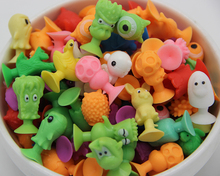 50pcs/lot good Cupule kids Cartoon Animal Action Figures toys Sucker kids Mini Suction Cup Collector Capsule model(China (Mainland))