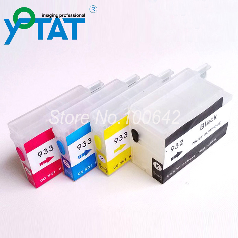 1set + Refillable ink cartridge for HP 932 HP 933 HP932 HP933 Officejet 6100 6600 6700 7110 with ARC chip (no ink level)(China (Mainland))