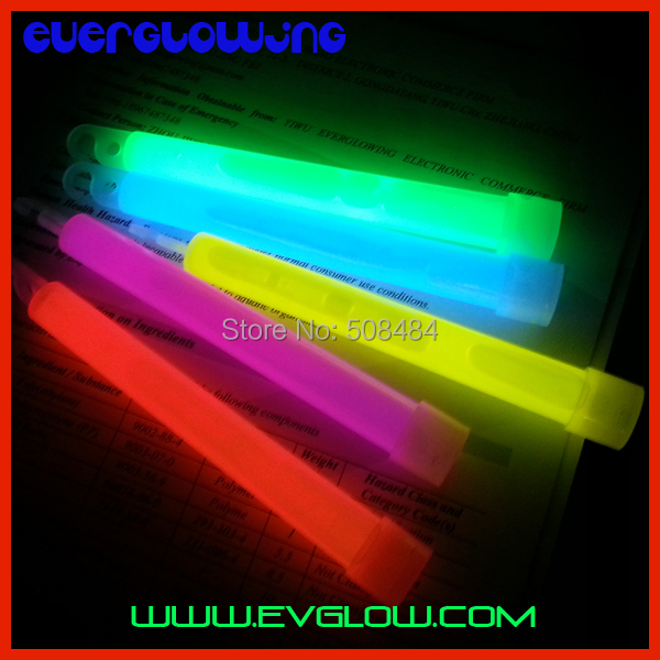 Free Shipping by DHL 100pcs/lot bag packing 5 color 6 inches Chemical Glow Stick light stick glowing stick neon stick for Party(China (Mainland))