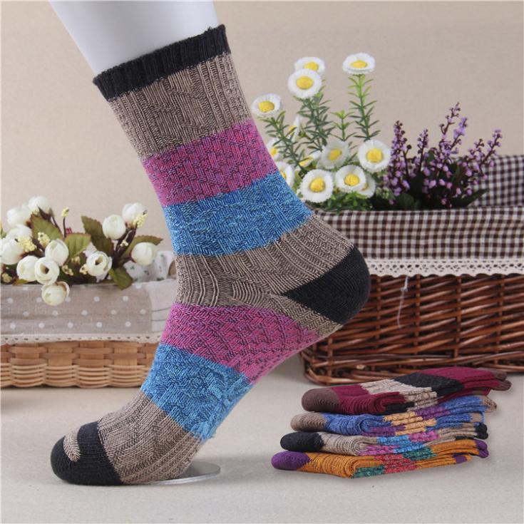 2014 New Winter Izmir Boutique 100% Cotton Women Socks Fashion Warm&Soft Thermal Socks For Women 4 pairs/lot Free Shipping(China (Mainland))