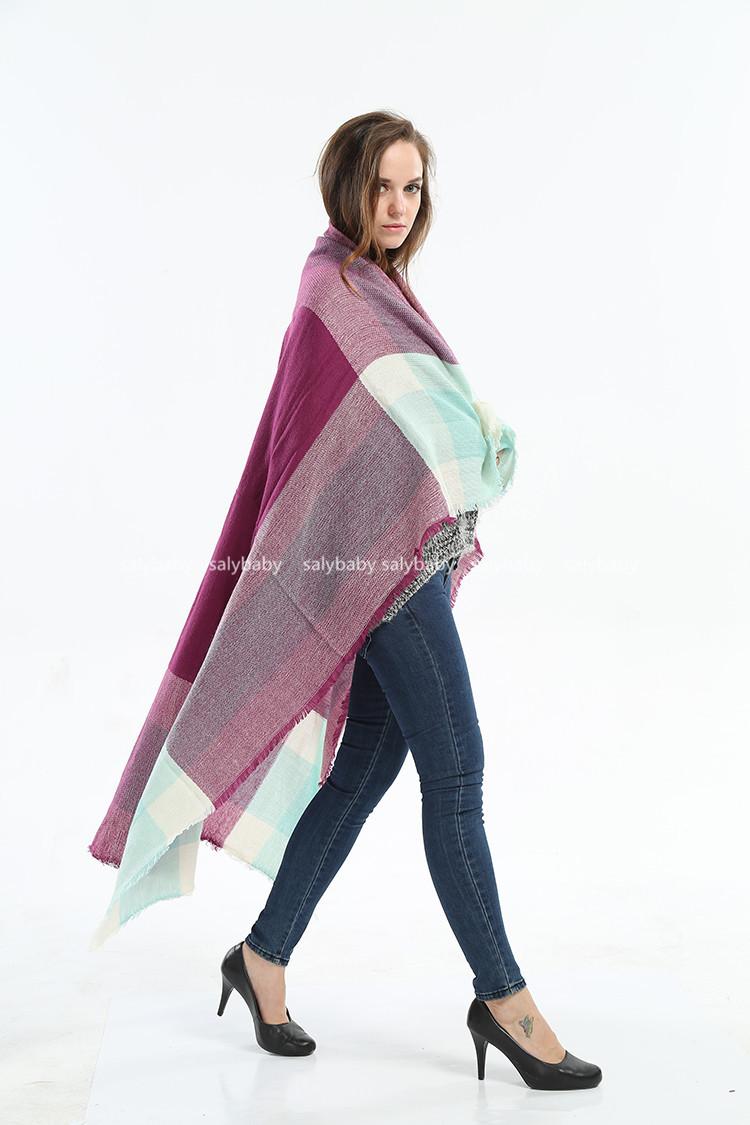 The Original 2016 New Winter Big European And American Imitation Cashmere Scarf Shawl Six Geometric Wholesale Manufacturers