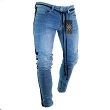 NIBESSER mens marca jeans Skinny Calça Casual Calças 2018 jeans preto calças de brim homme estiramento Calças lápis Plus Size streetwear 3XL(China)