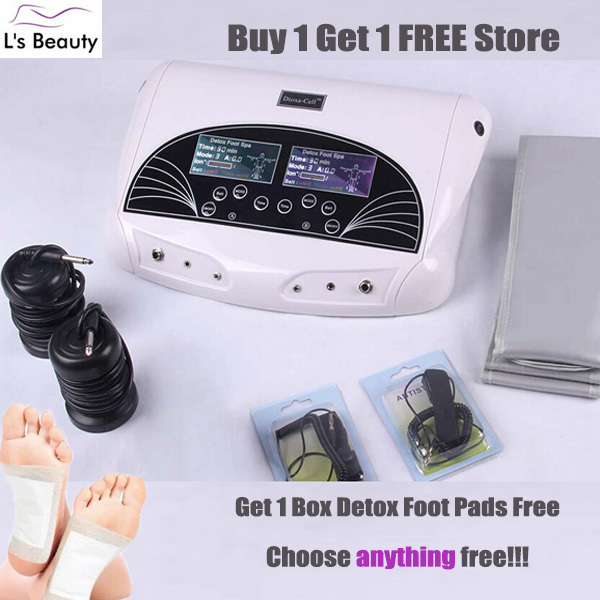 with free detox foot patch 2 person ion cleanse body detox machine,ionic detox foot spa machine with FIR belt(China (Mainland))