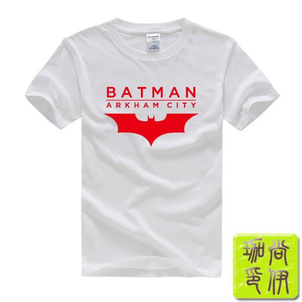 Batman Arkham City Bat Logo Printed Men's T-Shirt T Shirt For Men 2015 New Short Sleeve O Neck Cotton Casual Top Tee(China (Mainland))