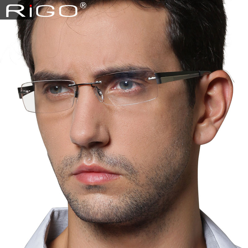 mens designer rimless glasses louisiana brigade