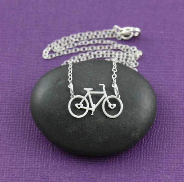 30pcs Bicycle Necklace Race Cycling Biker Silver Petite Triathlon Spin Class Christmas Gift Choker Women Necklaces &amp; Pendants<br><br>Aliexpress