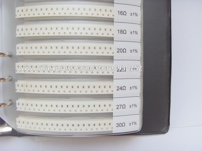 0603 SMD Resistor 170values and Capacitor 90values each 25pcs Sample Book 1% Chip Assorted SMD Kit